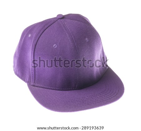 sports cap isolated on a white background - stock photo
