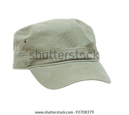 Sports cap on white background - stock photo