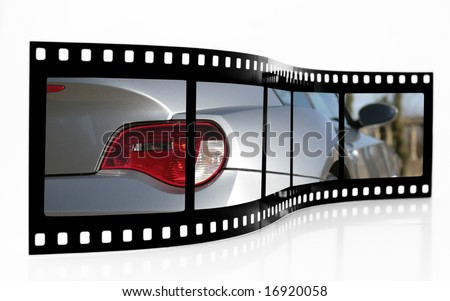 Sports Car Film Strip - stock photo