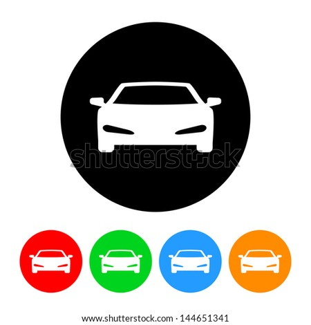 Sports Car Icon Color Variations Raster Stock Illustration 144651341