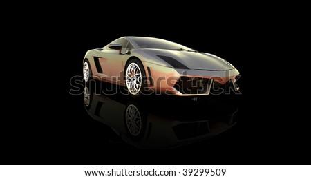 Sports car isolated - stock photo