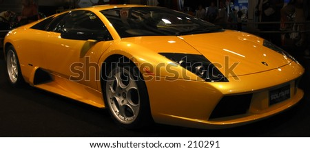 Sports car isolated on a black background