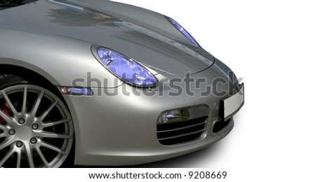 Sports Car, isolated on white - stock photo