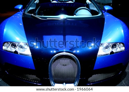 Sports Car on display. - stock photo