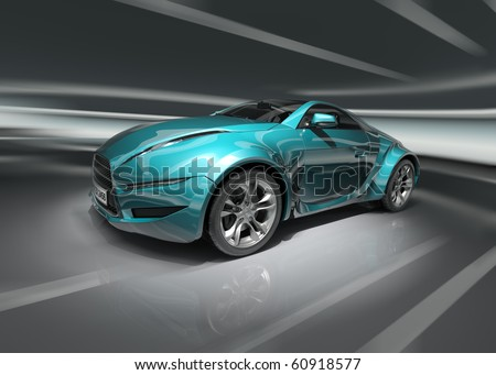 Sports car. Original car design. - stock photo