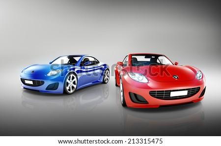Sports Car Set - stock photo