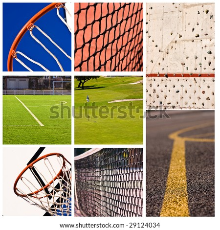sports collage - high definition photo - stock photo