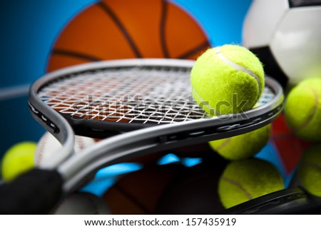 Sports Equipment detail - stock photo