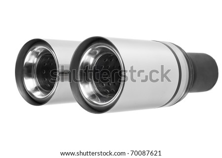 Sports exhaust pipe for the car - stock photo