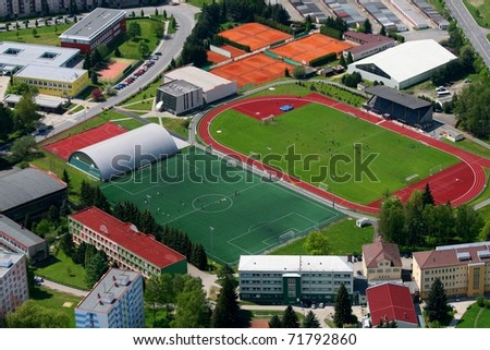 sports facilities - stock photo