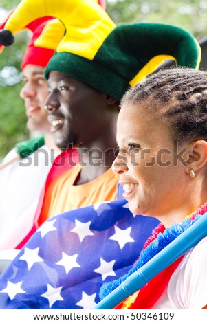 sports fans - stock photo