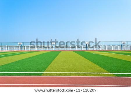 sports field - stock photo