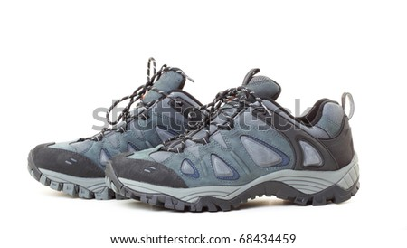 Sports footwear on a white background - stock photo
