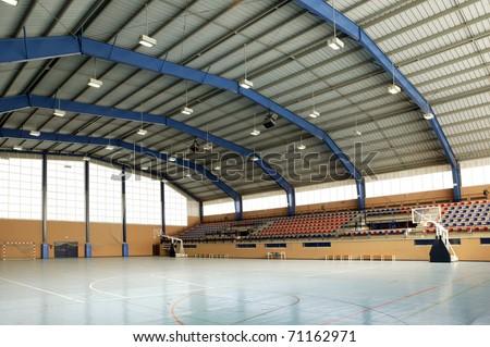 sports hall - stock photo