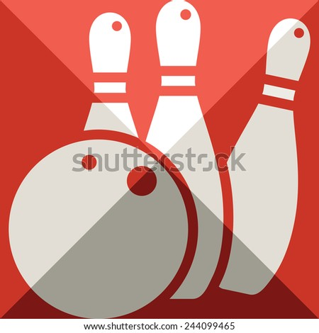 Sports icon - bowling icon