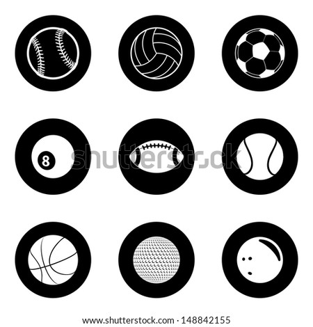 Sports Icon Set. Raster version, vector also available. - stock photo