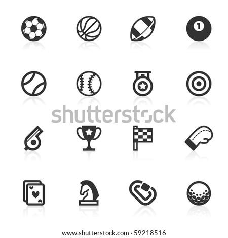 Sports icons - minimo series - stock photo