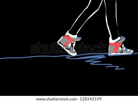 sports illustration - stock photo