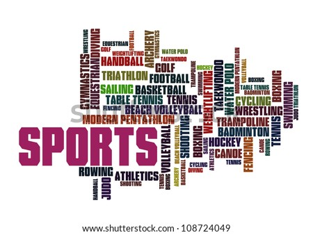 Sports info-text graphics and arrangement concept on white background - stock photo