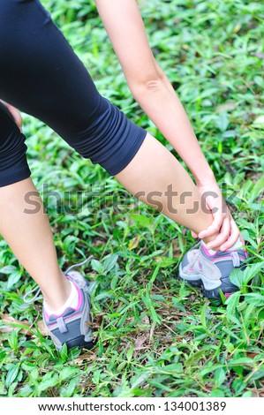 sports injury - stock photo