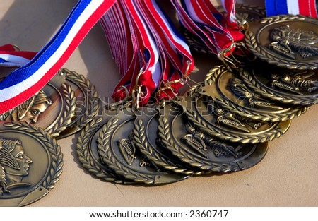 sports medals - stock photo