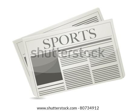 Sports newspaper illustration design over a white background - stock photo