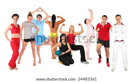 sports people group collage