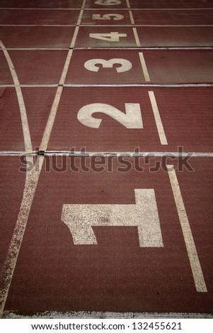 Sports runway - stock photo