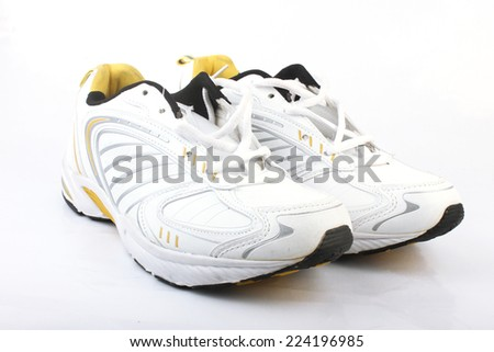 Sports Shoes Isolated On White - stock photo
