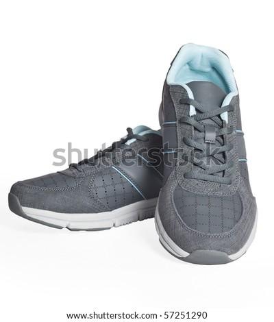 Sports shoes isolated on white background - stock photo