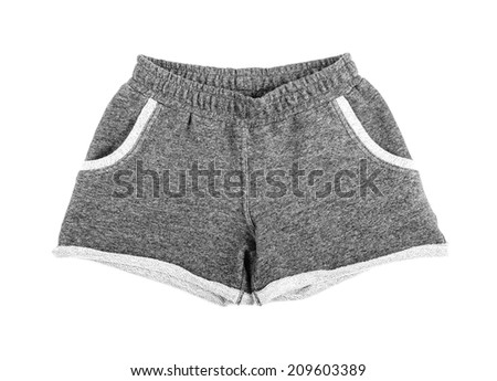 Sports shorts isolated on a white background