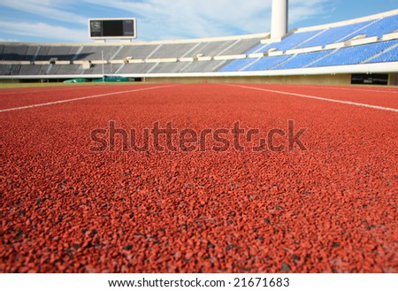 sports stadium empty during the day - stock photo