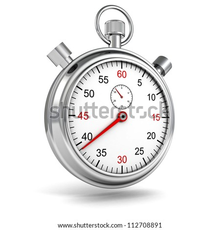 Sports Stopwatch on white background - stock photo