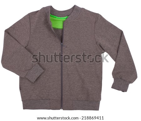 Sports sweater isolated on a white background - stock photo