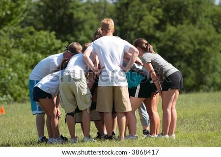 Sports Team Huddle 2 - stock photo