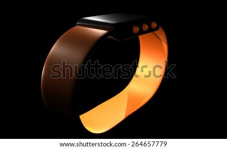 Sports Watch Orange - stock photo