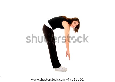 Sports woman stretching