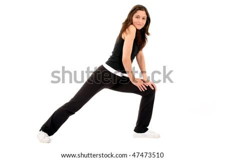 Sports women stretching - stock photo