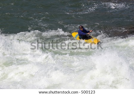 Sportsman on the rapids