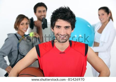 Sportsmen - stock photo