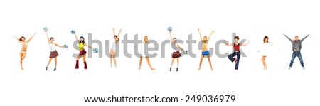 Sporty Concept Team Celebrating  - stock photo