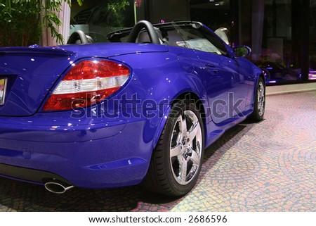 sporty convertible - stock photo