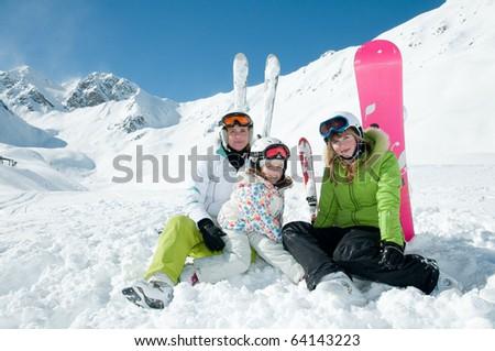 Sporty family - stock photo
