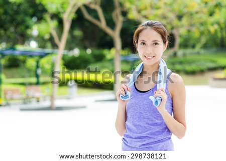 Sporty girl - stock photo