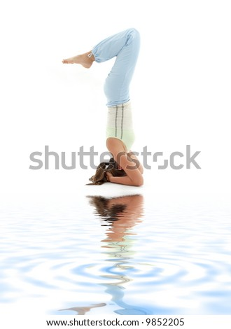 yoga headstand stock photos images  pictures  shutterstock