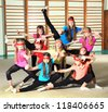 Sporty girls - stock photo