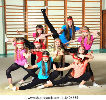 Sporty girls - stock photo
