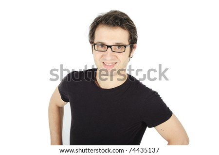 sporty man portrait - stock photo