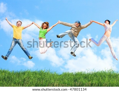 Sporty people - stock photo