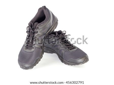 Sporty shoes for men's on the white background - stock photo